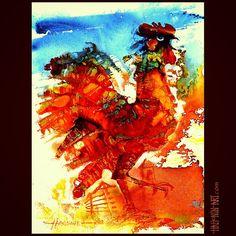 Hahonin Art @hahoninart Instagram photos | Websta  #sergej_hahonin #hahonin_art #painting #fineart #illustration  #rooster