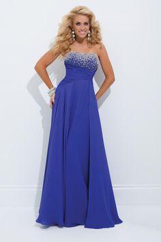 2310137bd3e Jeweled Georgette Knot Waist Prom Dresses by Tony Bowls Le Gala-image