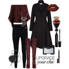 Thema Red by jellyfish-c on Polyvore featuring Sans Souci, Boohoo, Chloé, Sara Barner, Amanda Rose Collection, NARS Cosmetics, Marc Jacobs, Lime Crime, Smith & Cult and Bulgari