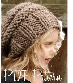 Knitting PATTERN-The Sophia Slouchy Toddler by Thevelvetacorn