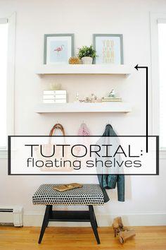 Tutorial for building super easy floating shelves!