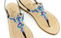 jewelled sandals grotta azzurra Dea Sandals handmade in Capri Italy www.deasandals.com sippin worldwide