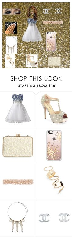 """Homecoming🌟"" by nia-carter-cmlxx on Polyvore featuring Lauren Lorraine, Sondra Roberts, Casetify, Accessorize, BP., John Lewis, Chanel and Lime Crime"