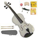 GRACE GV40WT 34 Size Solid Wood Hand Made Ebony Fitted White Violin with Hard Case2 Sets of Strings2 Bridges2 BowsPitch PipeShoulder RestRosin -- Check out this great product.Note:It is affiliate link to Amazon.