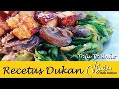 Tofu Dukan Tostado con Espagueti de Calabacin / Roasted Tofu with Zucchini Pasta