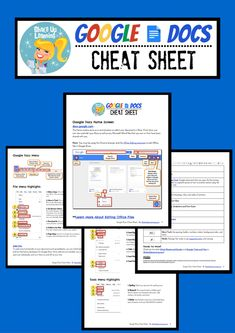 Google Docs Cheat Sheet for Teachers and Students! #google #gafe