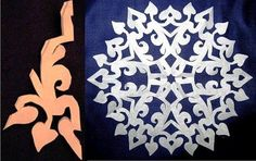 Snowflakes Template #craft