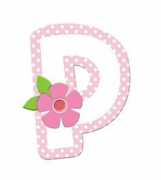 P-pink dots flower