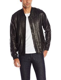 "Black leather bomber with black tonal zip details on front   	 		 			 				 					Famous Words of Inspiration...""When in doubt, do it.""					 				 				 					Oliver Wendell Holmes 						— Click here for more from Oliver Wendell...  More details at https://jackets-lovers.bestselleroutlets.com/mens-jackets-coats/vests/product-review-for-joes-jeans-mens-lorenzo-leather-bomber/"