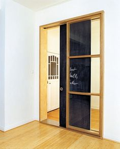 chalkboard sliding door. want one.