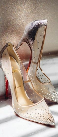 Louboutin Transparent #Shoes www.ScarlettAvery.com