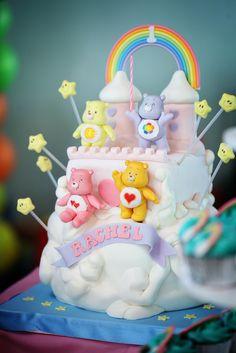 Lovely Care Bears #cake Bear Face Paint, 4th Birthday Cakes, Baby Birthday, Birthday Ideas, Care Bear Cakes, Care Bear Party, Character Cakes, Care Bears, Creative Cakes