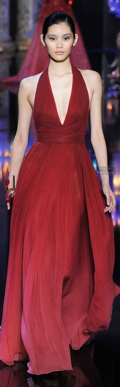 Elie Saab - red gown - Fall-winter 2014 Reception dress