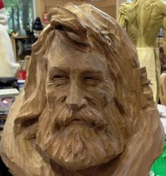 Wood Carving Faces, Tree Carving, Wood Carvings, Unique Wood Furniture, Whittling Wood, 3d Wallpaper For Walls, Wood Burning Art, Wood Sculpture, Tree Art