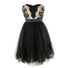 Amazon.com: Minuet Women's Mi Amore Strapless Holiday Dress Black: Clothing