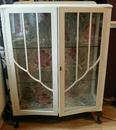 Upcycled Art Deco 1930's Glass Display Cabinet by Restored2bloved ...