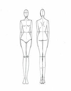 Fashion Illustration Templates Front And Back 5a2155907235776373ba03580e504 ...