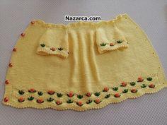 KIVRIMLI KENARLI ROKOKO ÇİÇEKLİ BEBEK YELEK VİDEOLU | Nazarca.com Crochet For Kids, Crochet Baby, Baby Vest, Crochet Fashion, Baby Kids, Beanie, Skirts, Clothes, Souvenir