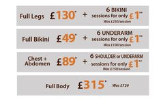 August Promotions LASER HAIR REMOVAL, facial and body treatments