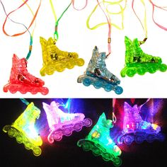 *FLASHING* ROLLER SKATE Necklaces: Pack of 24 pcs. Assorted Colors LITE-UP FUN! in Consumer Electronics, Gadgets & Other Electronics, LED Light Key Chains | eBay