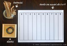 Materiale Montessori fai-da-te: i fuselli