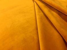 Italian Velvet Mustard Gold T136 £23 per metre. Super soft drape velvet, suitable for curtains, dressmaking, soft furnishing and upholstery.