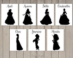 ♥ Would you like to decorate your wedding reception tables with unique table cards? You can use them to give each table a name instead of a number to make your wedding truly your event. Each card features a different Disney couple (silhouette).  ♥ This listing is for a custom PRINT IT YOURSELF file. No actual product will be shipped.  ♥ You will be able to download your file (PDF) after your purchase.  ♥ Size: 4.25 x 5.5 inch  ♥ Because this is a digital file, there are NO REFUNDS on this…