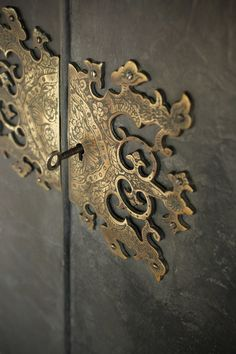 the most gorgeous lock plate