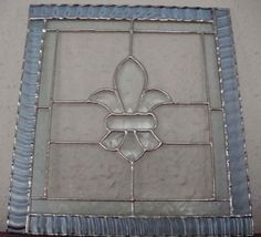 blue border stained glass