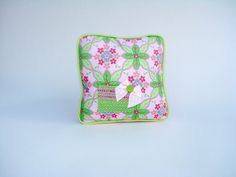 Lime Green and Pink Tooth Fairy Pillow by ToothFairyWorks