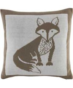 Heart of House Vixen Knitted Cushion - White.