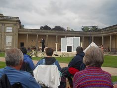 Summers evening and open air theatre at Attingham Park