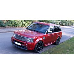 red range rover found on Polyvore