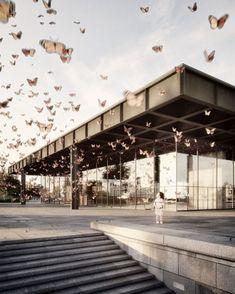 "1,055 curtidas, 11 comentários - Bauhaus Movement (@bauhaus.movement) no Instagram: ""Ludwig #MiesvanderRohe. Neue #Nationalgalerie. #Berlin. Germany. Architectural visualisation ©…"""