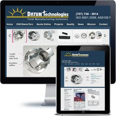 Datum Technologies Company website built with PHP/HTML, JQuery using responsive web design.
