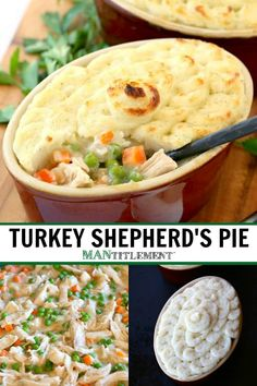 Leftover Turkey Shepherd's Pie will totally transform your leftover turkey into this comforting casserole! Leftover Turkey Shepherd's Pie will totally transform your leftover turkey into this comforting casserole! Easy Leftover Turkey Recipes, Leftover Turkey Casserole, Leftovers Recipes, Turkey Leftovers, Recipe For Turkey Casserole, Cooked Turkey Recipes, Casserole Recipes, Soup Recipes, Dinner Recipes