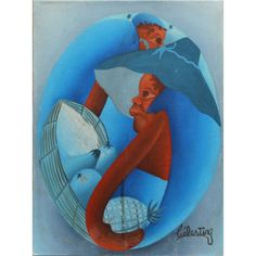 Celestin Contemporary Haitian, Two Figures and Fruit. Celestin Contemporary Haitian, Two Figures and Fruit. 16 x 12 ins., 40.5 x 30.5 cms.), Oil on Canvas, Signed.