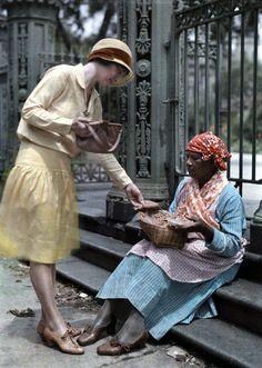 New Orleans. Autochrome 1920's