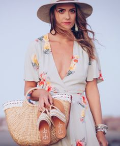 beachy florals, The Styled Fox.