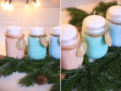 It's christmas time! Time for an easy DIY with mason jars! how to make a creative advent wreath!