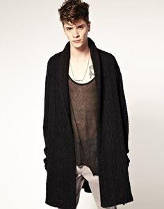 669380edb4de ASOS BLACK Long Length Belted Cardigan - StyleSays Belted Cardigan