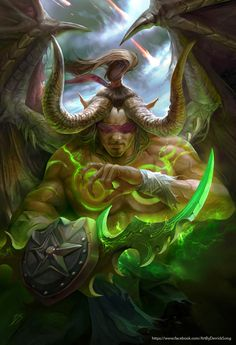 World of warcraft fanart 1 - illidan by derrickSong.deviantart.com on @deviantART