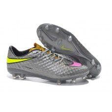 quality design 1ca6c a13c9 Oferta Nike Hypervenom Phantom Premium FG Gris Rosado Amarillo zapatos de  fútbol baratos Futbol, Nike