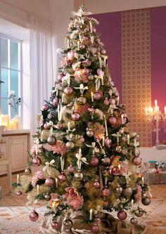 Thüringer Glasdesign Set im Online Shop von Ackermann Versand #weihnachten #christmas #deko Pink Christmas, Beautiful Christmas, Xmas, Christmas Trees, Shops, Tree Tops, Kugel, Mantle, Holiday Decor