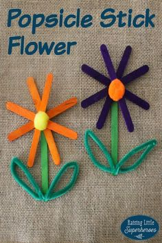 Making a Popsicle Stick Flower is a fun way to celebrate that Spring has finally arrived. Making Springtime crafts for kids is a creative way to teach children about all of the things that occur when the seasons change.