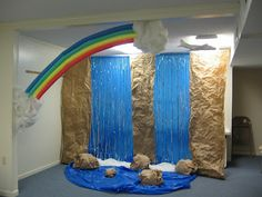 VBS Victoria Falls Decorations Through Divine guidance and provision, I finished decorating my VBS room!
