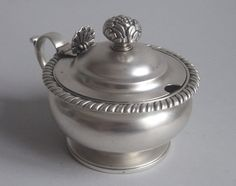 EDINBURGH.  An unusual George III Mustard Pot made in Edinburgh in 1816 by John McKay.