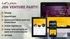 JSN Venture Responsive Joomla Event Template.