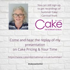 @cakecoachonline posted to Instagram: Cake Pricing and getting it right - is so important to build a thriving business with bakes and cakes. I was asked to present at Cake International Summer Carnival a few weeks ago - and the recordings are still available for a few more weeks. Why not come and listen and gets some more ideas for your cake business too. Click the link in our bio to discover more ways we can help you too. . . . . . #cakedecoratingclass #bakingtips #cakebusinessadvice# #c