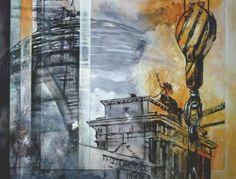 "Saatchi Art Artist Arno Bruse; Painting, ""Berlin Central"" #http://www.saatchiart.com/smart.art"